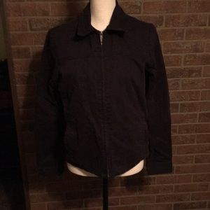 HURLEY INTERNATIONAL JACKET SZ LG JR BLACK